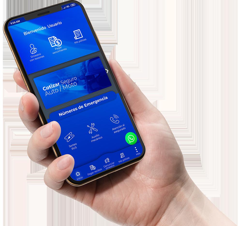 Teléfono celular Aplicación RUS Móvil